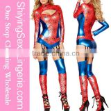 New design carnival kid spiderman costume latex costume fancy suit