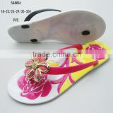 Jelly sandals PVC material little girl flip flops
