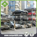 auto car pit parking system 3 level vertical horizontal parking lift equipment with CE