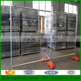 Hot dipped galvanized /PVC coated and powder coated mobile temporary fence /crowd control fence