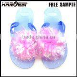 latest lady fancy flower outdoor chinese slipper design , cheap personalize party slipper for woman