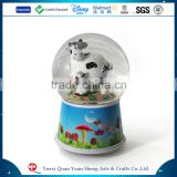 Best Sellers Cute Dairy Cows Snow Globe Animal Dairy Cows Snow Globe With Resin Cheap Animal Snow Globe
