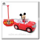 Baby kids small cartoon electronic remote control car with mini figure doll factory custom own design model