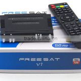 Stocks for Freesat V7 mini hd High Definition digital satellite receiver with Powervu, bisskey, cccam, youtube