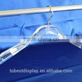 Factory customized acrylic plexiglass clothes hanger, short clothes hangers