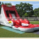 used outdoor playground equipment waterslides inflatable slide with pool water park slides kids game toy for sale