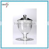 Chinese Manufacturer Cheap Clear candy station wedding round glass candy jar with glass lid