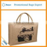 Wholesale picture of jute bag promotion jute bag jute tote bag