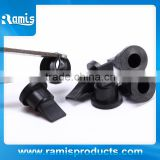 Rubber air small black duckbill valve