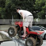 Folding ATV ramp with adjustable support legs on sales