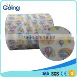 Velcro tape Nonwoven frontal tape raw material for S cut baby diaper Loop Stretchy Ear                                                                                                         Supplier's Choice