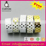 Professional printing paper decorative gold foil washi tape