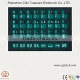 Printing letter keypad backlight touch button