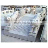 Garden Stone Bridge with 4 Tiger Statues
