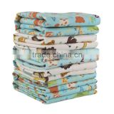 High Evaluation Waterproof Sit Bear Printed Flannel Baby Changing Mat