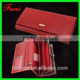 China Guangzhou Fani Leather Factory supplier wholesale luxury leather travel women wallet