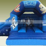 Inflatable Frozen Combo jumping castle with slide,Children inflatable frozen combo fun cheap inflatable combo for sale