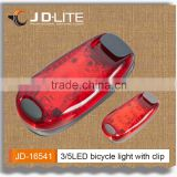 2016 LED Safety Strobe led bicycle Light Belt Clip-On With Bike Straps