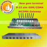 gsm/cdma/wcdma voip terminal gateway,8 port 32 sim cdma gateway,4 channel gsm modem for sms