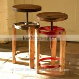 Industrial Reclaim wood Bar stool , industrial furniture wholesale