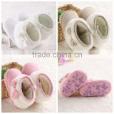 wholesale winter beautiful soft shoes warm girls knitting baby boot shoes
