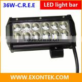 Aftermarket car parts 36W work lamp flood 2 row led offroad light bar prompt shipment