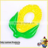 Customized export corn silica teether baby molar teether/ baby teether stick child chews toys shenzhen manufacturer