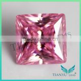 wholesale Synthetic CZ Stone Suqare Cut Corner Pink Cubic Zirconia Gems