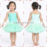 Summer fashion rosette pettidress fancy design and top quality birthday party dress for 0-3 years old baby girl