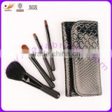 4pcs 100% Nylon Hair Matt Black Wood Handle Mini/Gift Cosmetic Brushes