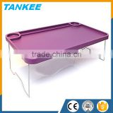 Plastic Bed Tray With Folding Legs Serving Breakfast Lap Tray Table Mate