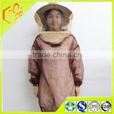 wholesale price top sale bee protection clothing of beekeeping tools honey bee suit brown color for women