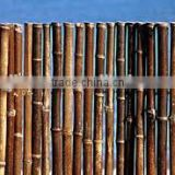 WY-CC175 2016 natural and eco-friendly black bamboo fence/bamboo poles manufactures china