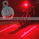 Outdoor Cycling Safety Warning Tail Light Bicycle Rear Bike Seatpost 5 LED 2 Laser Lamp Riding Accessories