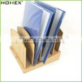 5 Divider Bamboo Organizer for File in Office Desktop/File and Mail Holder/Homex_FSC/BSCI Factory
