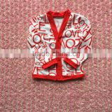 Valentine wholesale kids clothes kids cardigans valentines clothes girls cardigan