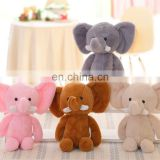 free sample wholesale cute stuffed animal elephant,plush soft elephant toy for kids, elephant custom plush toy