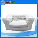 2017 white & luxury double love seat inflatable sofa