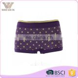 Purple flowers printed customized size promotion ladies panty brand names