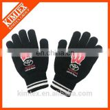 Cheap winter acrylic knit gloves for touch screen