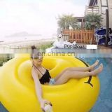 2016 New High quality inflatable smile face swimming pool floats