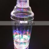 led light flashing plastic Cocktail shaker bottle