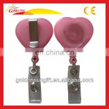 Hot Sale Heart Shaped Retractable Reel Holder