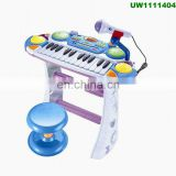 Piano Keyboard Toy for Kids 24 Keys White Electronic Musical Instrument Multi-function with Microphone for Toddlers