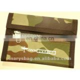 Mesh backed camouflage wallet