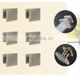 6pcs set Square Body Sprays Massage Spa Body Jets for Concealed Bathroom Shower head