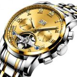 Waterproof Tourbillion Automatic Watch Men 2019