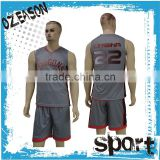 Custom college team basketball uniforms dye sublimated basketball jersey/uniform reversible