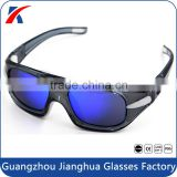 Fashion custom brand logo bifocal vintage basketball eyewear glasses coolest black frame and blue lens eye safety goggles