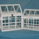 Hongwei antiquated Garden Wood&Glass Planters/ green house